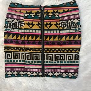 H&M Tribal Print Skirt